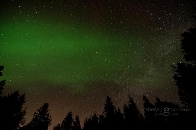 aurora borealis North Idaho