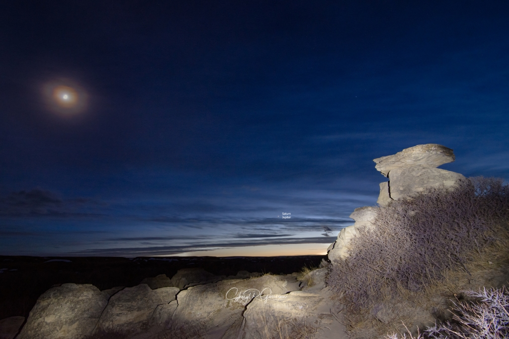 hoodoos lunar corona and saturn jupiter conjunction